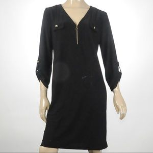 Emma & Michele -  Zip Front Black Dress - Size XL